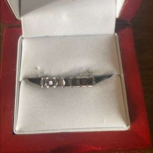 Sterling Silver smokey topaz stone ring